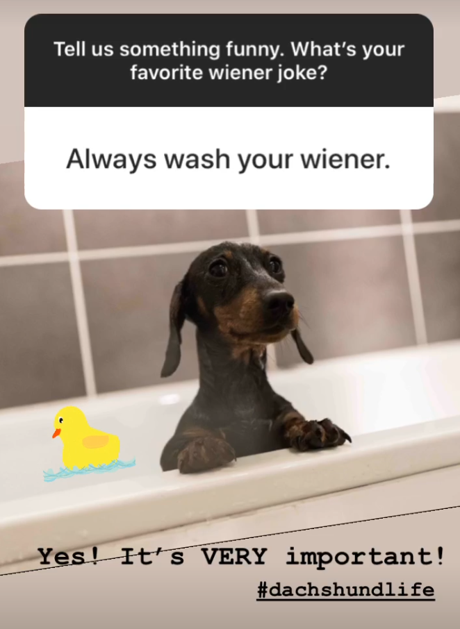 Always wash your wiener
