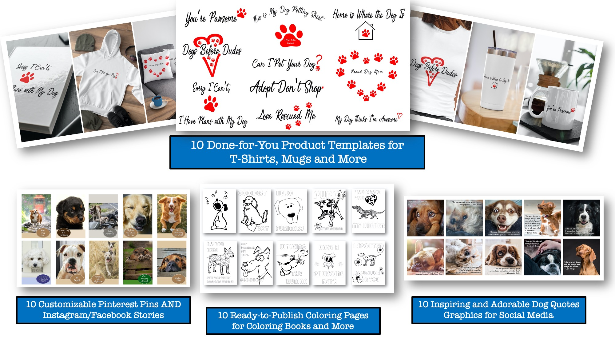 Product & Social Media Templates for the Dog Niche with PLR Rights