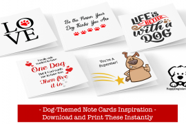 Ideas for Dog-Themed Note Cards