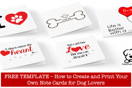 Free Template - Make Your Own Note Cards for Dog Lovers
