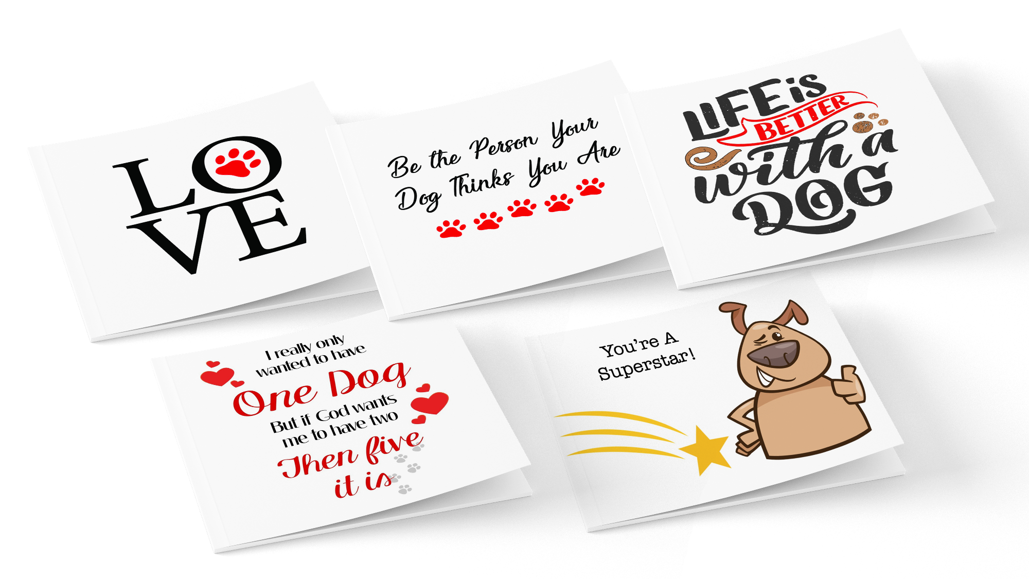 5-Pack of Printable Note Cards