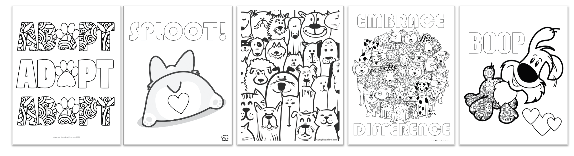 5 Free Coloring Pages Bonus